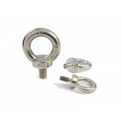 Screw M10 with eye (zinc...